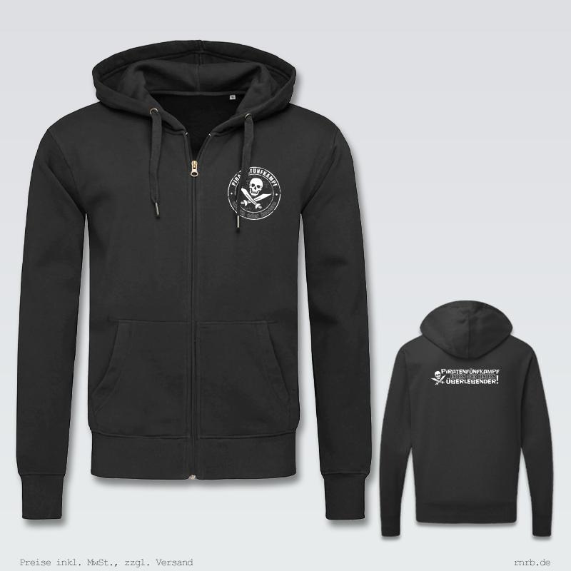 Darstellung: 5kampf-zip-hoodie-klassisch-brust-ruecken