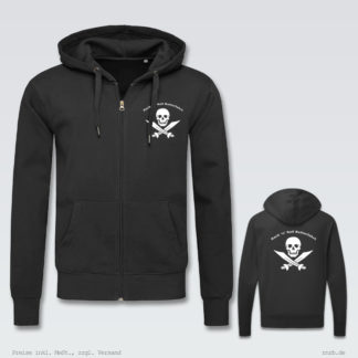 Darstellung: rnrb-logo-zip-hoodie-klassisch-brust-ruecken