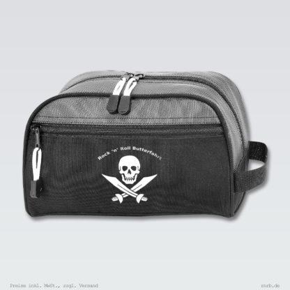Darstellung: badtasche-schwarz-grau-rnrb-logo-weiss