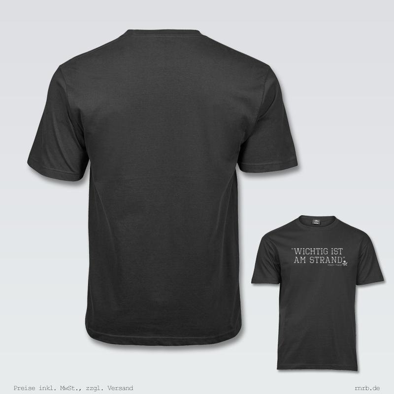 Darstellung: wichtig-ist-am-strand-shirt-klassisch-ruecken-brust