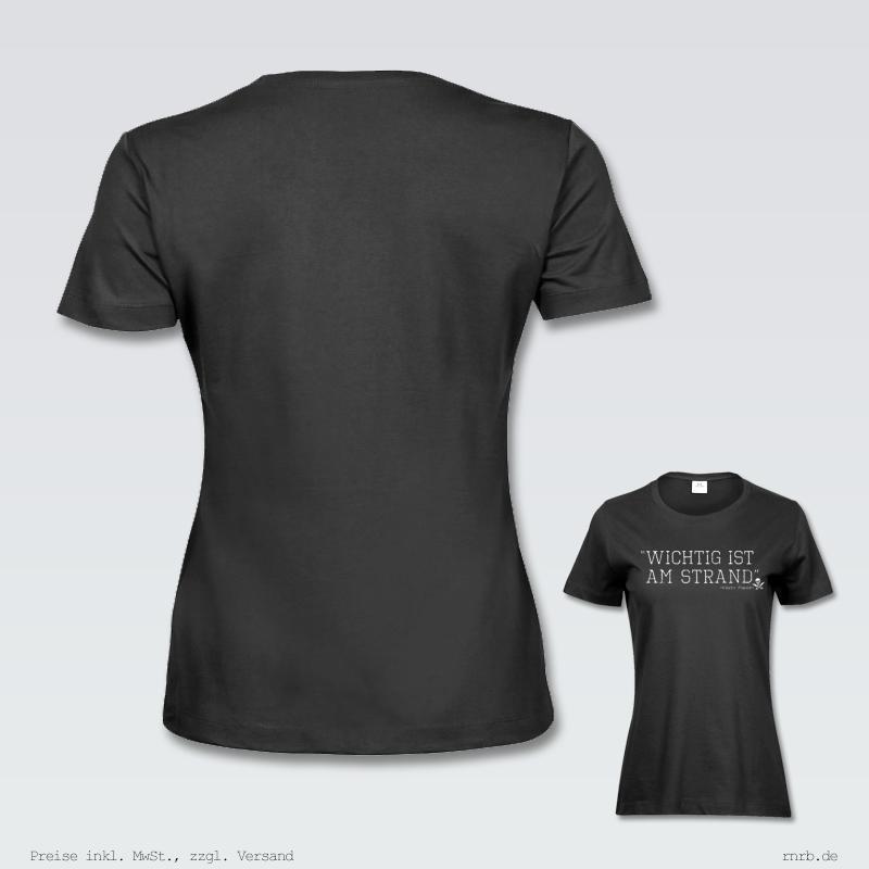Darstellung; wichtig-ist-am-strand-shirt-tailliert-ruecken-brust